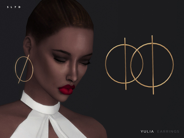 Yulia Earrings By Slyd At Tsr 187 Sims 4 Updates