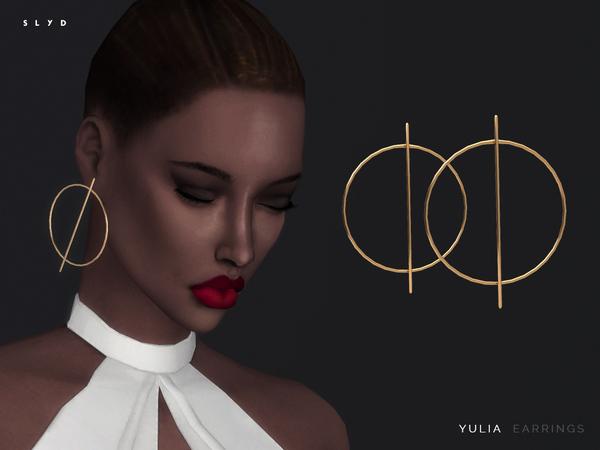 Sims 4 Yulia Earrings by SLYD at TSR