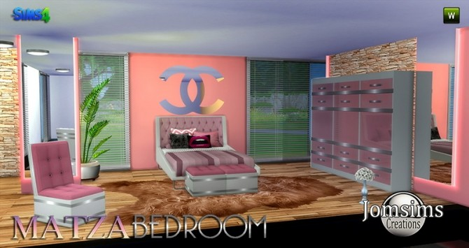 Matza Bedroom at Jomsims Creations image 1726 670x355 Sims 4 Updates