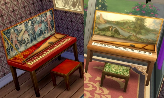 Medieval Renaissance Style Piano By Esmeralda At Mod The