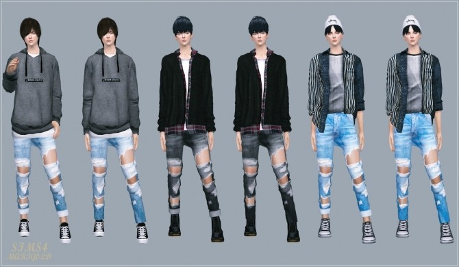 Sims 4 Male Destroyed Jeans at Marigold