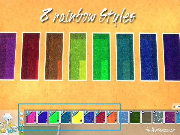 Rainbow Fresh Pool Colours by Waterwoman at Akisima image 1775 Sims 4 Updates