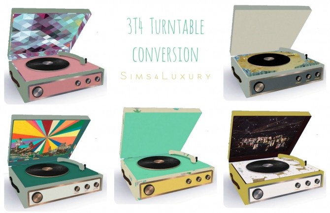 Sims 4 3T4 Turntable conversion at Sims4 Luxury