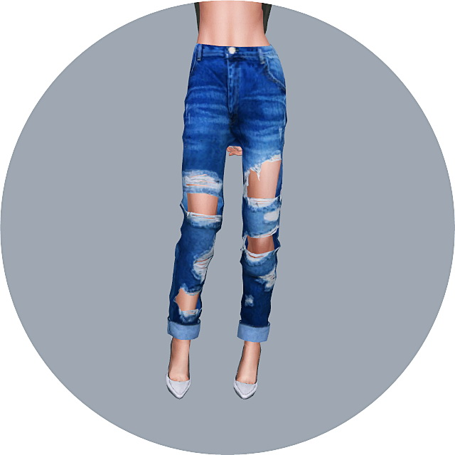 Female Roll Up Destroyed Jeans at Marigold image 1782 Sims 4 Updates
