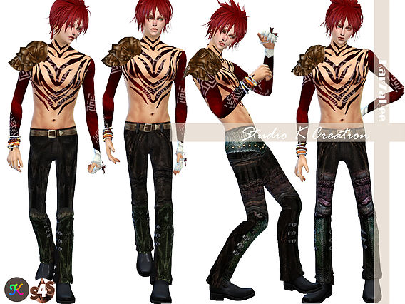 Dragon Skin pants for male at Studio K Creation image 1804 Sims 4 Updates