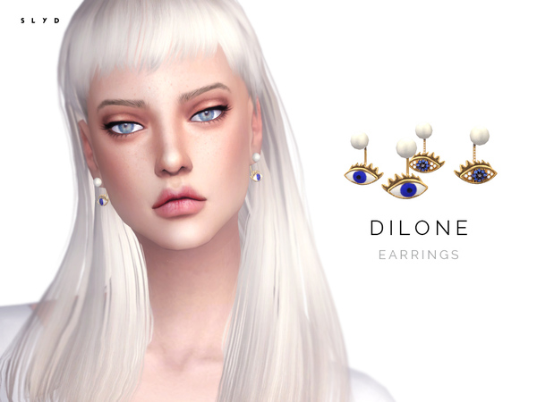 Dilone Earrings by SLYD at TSR image 1812 Sims 4 Updates