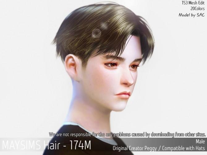 Sims 4 Hair 174M (Peggy) at May Sims