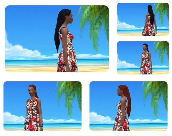 Impossible long Dreads female at Birksches Sims Blog image 1849 Sims 4 Updates