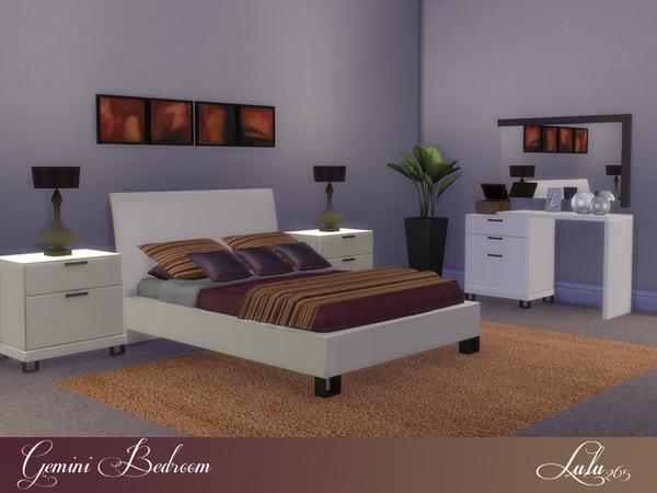 Sims 4 Gemini Bedroom by Lulu265 at TSR