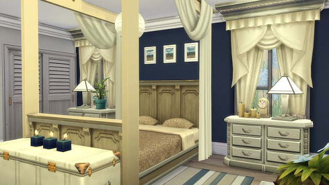 Beachy Bedroom at SIMplicity image 1854 Sims 4 Updates