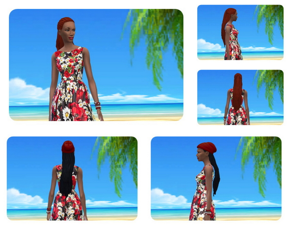 Sims 4 Impossible long Dreads female at Birksches Sims Blog