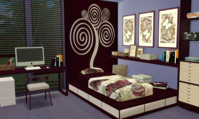 Sims 4 Bilbao bedroom  by Mary Jiménez at pqSims4