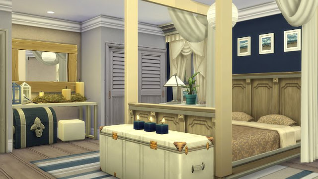 Beachy Bedroom at SIMplicity image 1864 Sims 4 Updates