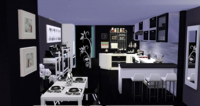 Sims 4 Kitchen and dining Altea by Mary Jiménez at pqSims4