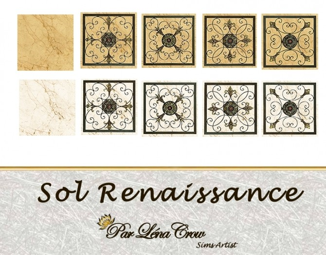 Sims 4 Renaissance floors by LénaCrow at Sims Artists