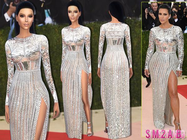 170 Kim Kardashian Met Gala16 Dress by sims2fanbg at TSR image 1912 Sims 4 Updates