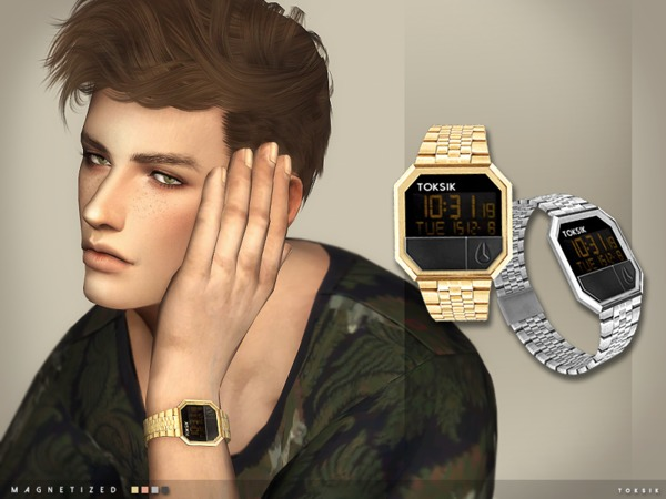 Sims 4 Magnetized Watch by toksik at TSR