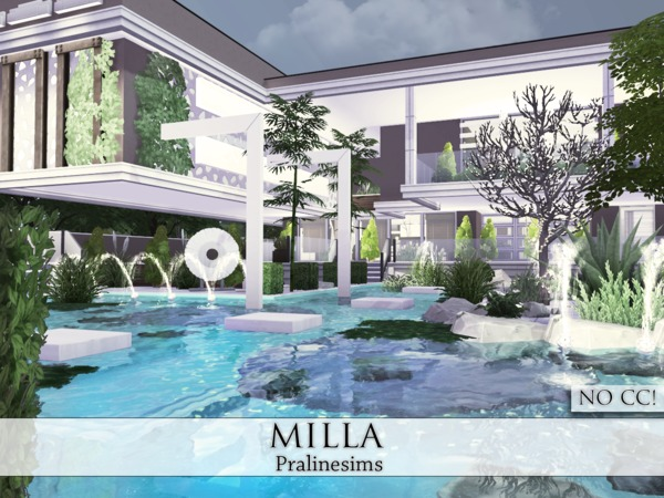 Sims 4 Milla house by Pralinesims at TSR