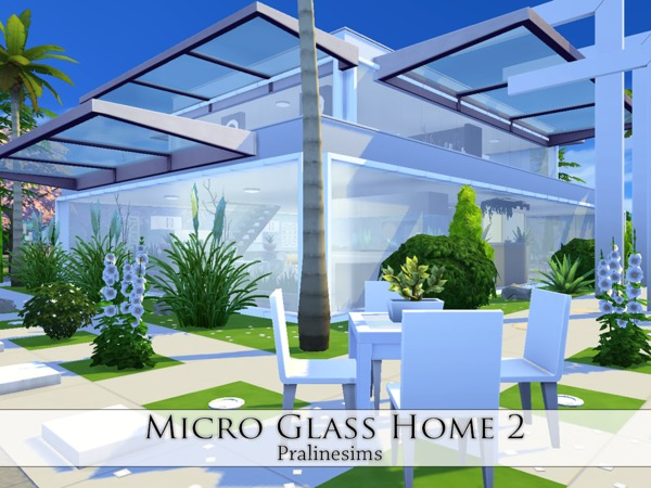Micro Glass Home 2 by Pralinesims at TSR image 1924 Sims 4 Updates