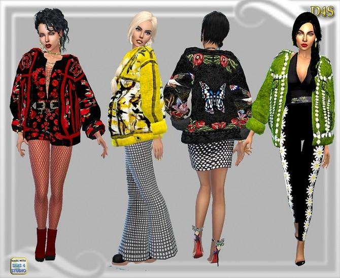 Big Jean Jacket at Dreaming 4 Sims image 1943 670x548 Sims 4 Updates