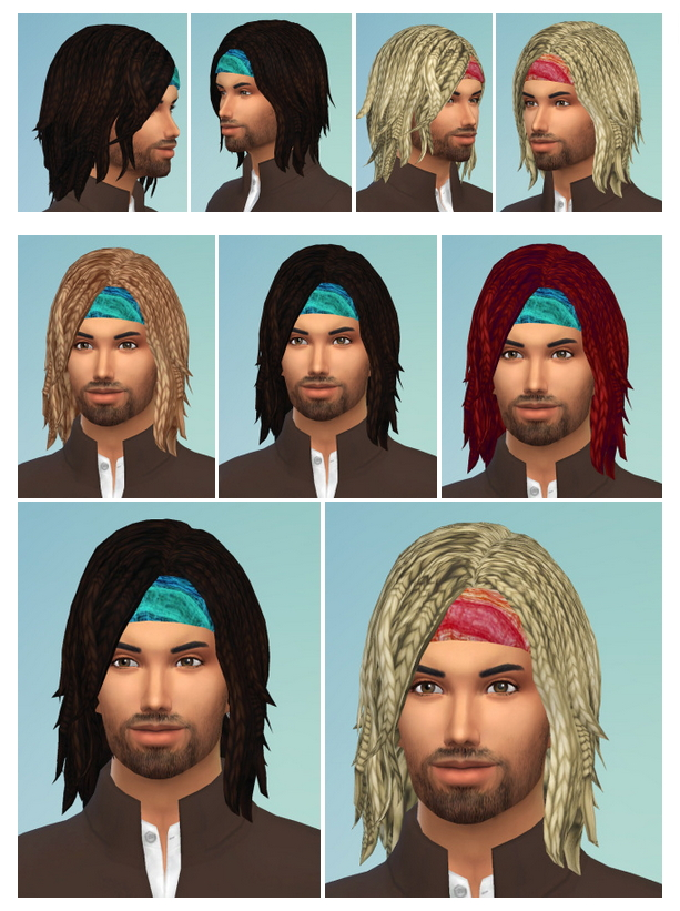 Sims 4 BraidsBob with Headband male at Birksches Sims Blog