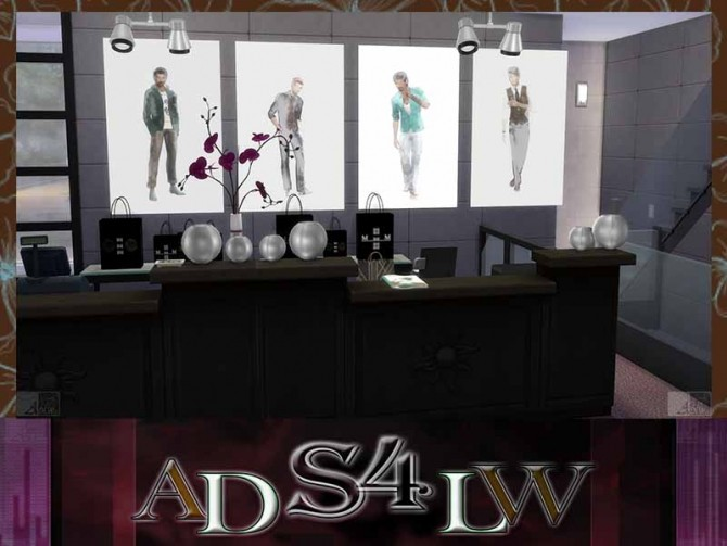 Sims 4 Fashion Men Mode Poster Size L&XL Vol.3 by Adlw Simiesk Art at SimsWorkshop