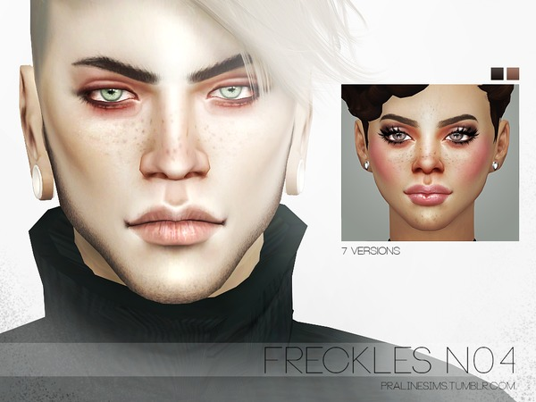 Sims 4 Freckles N04 by Pralinesims at TSR