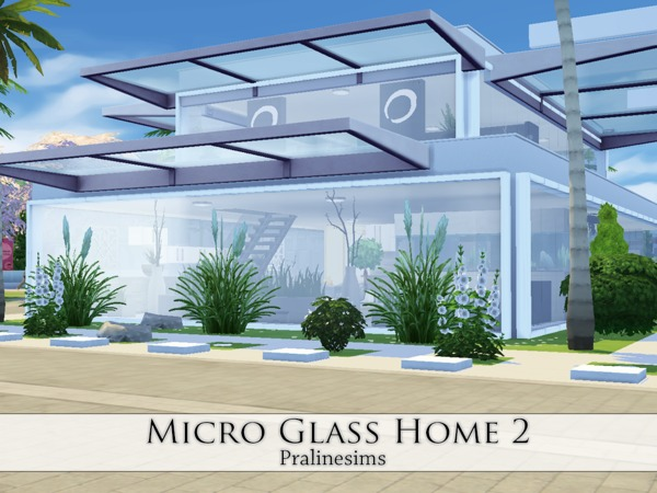 Sims 4 Micro Glass Home 2 by Pralinesims at TSR