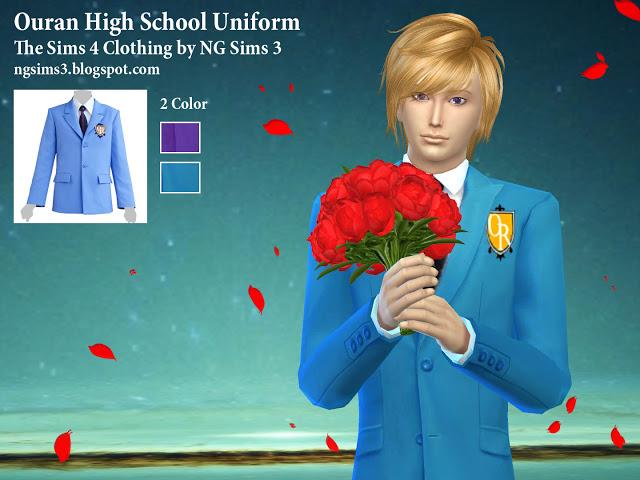 Ouran High School Uniform at NG Sims3 image 2032 Sims 4 Updates