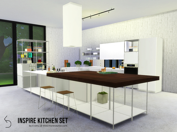 Sims 4 INSPIRE Kitchen Set by k omu at TSR