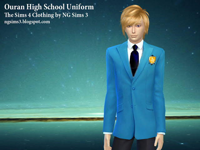 Sims 4 Ouran High School Uniform at NG Sims3