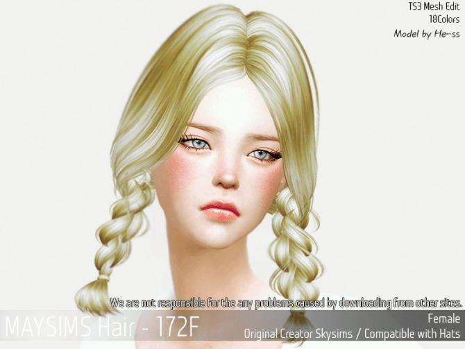 Sims 4 Hair 172F (Skysims) at May Sims
