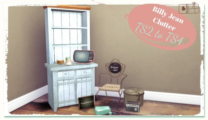 Billy Jean Clutter TS2 to TS4 at Dinha Gamer image 21012 670x388 Sims 4 Updates