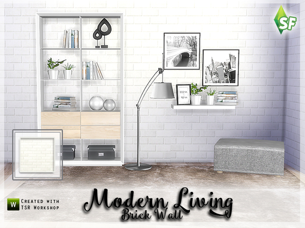 Sims 4 Modern Living Wall Set 1 by SimFabulous at TSR
