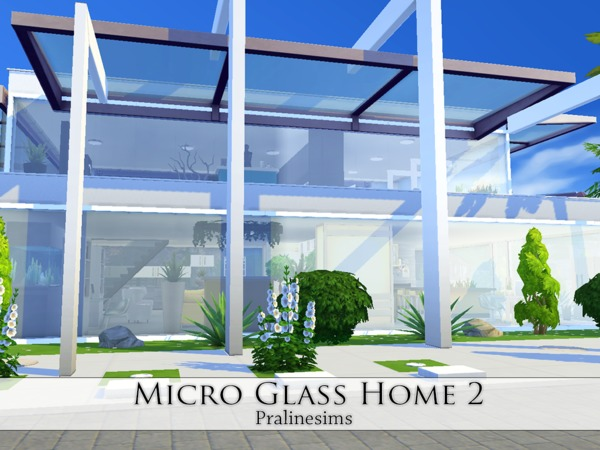 Micro Glass Home 2 by Pralinesims at TSR image 2125 Sims 4 Updates