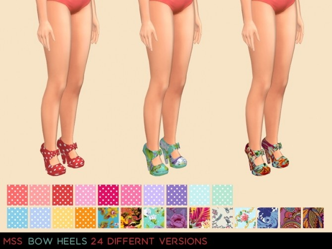 Bow Heels by midnightskysims at SimsWorkshop image 2138 670x503 Sims 4 Updates