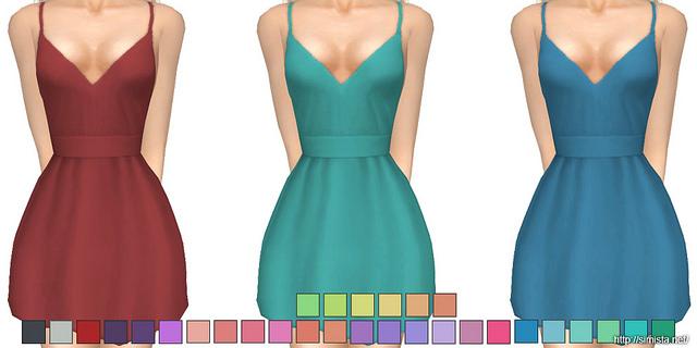 Sims 4 Recolours Of Sentates Shove Dress at Simista
