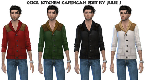 Cool Kitchen Cardigan Edited at Julietoon – Julie J image 2184 Sims 4 Updates