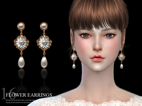 Sims 4 Earrings 16(f) by S Club LL at TSR