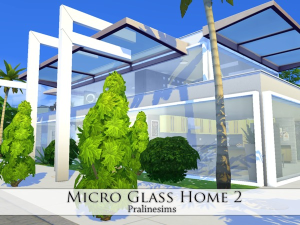 Micro Glass Home 2 by Pralinesims at TSR image 2225 Sims 4 Updates