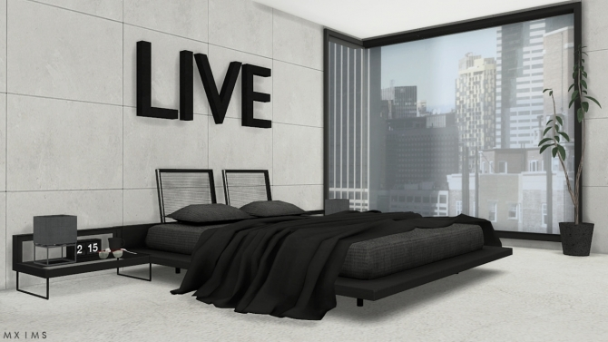 stylish modern bedroom at mxims 187 sims 4 updates