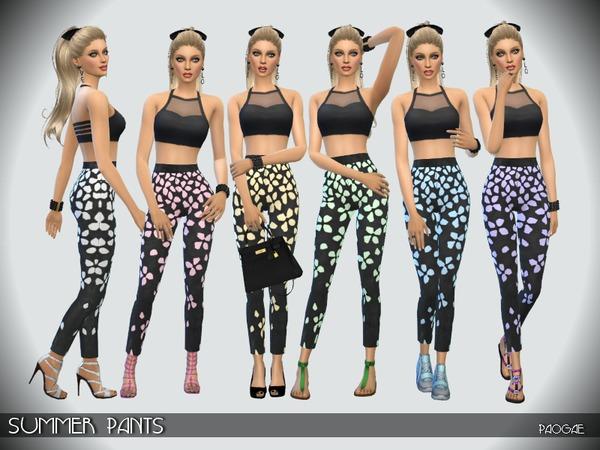 Sims 4 Summer Pants by Paogae at TSR