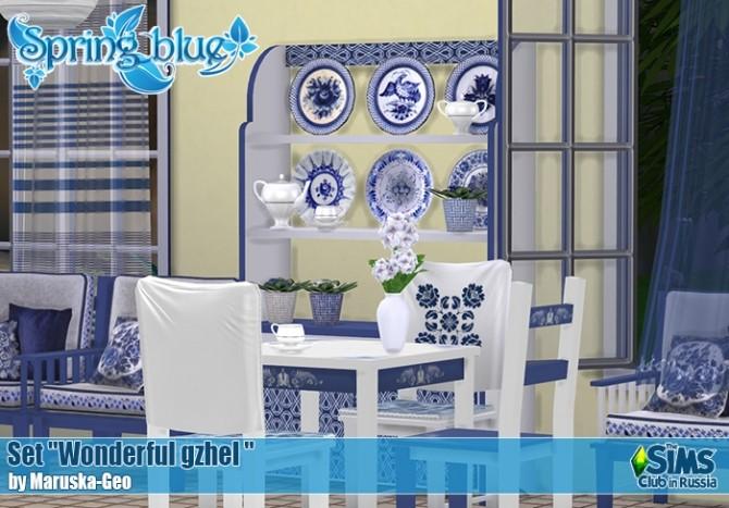 Wonderful gzhel set at Maruska Geo image 224 670x467 Sims 4 Updates