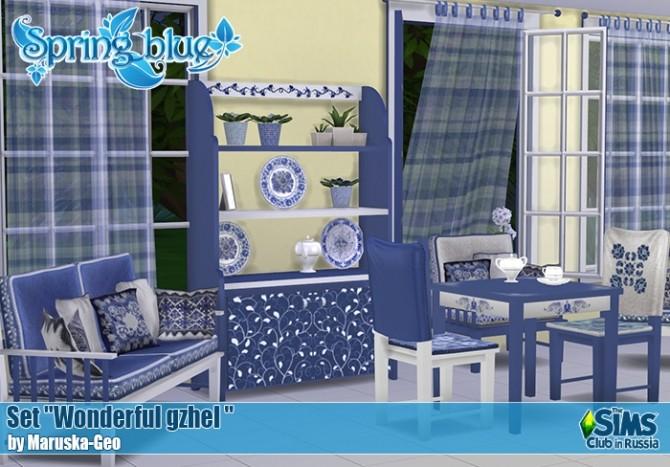 Wonderful gzhel set at Maruska Geo image 225 670x467 Sims 4 Updates