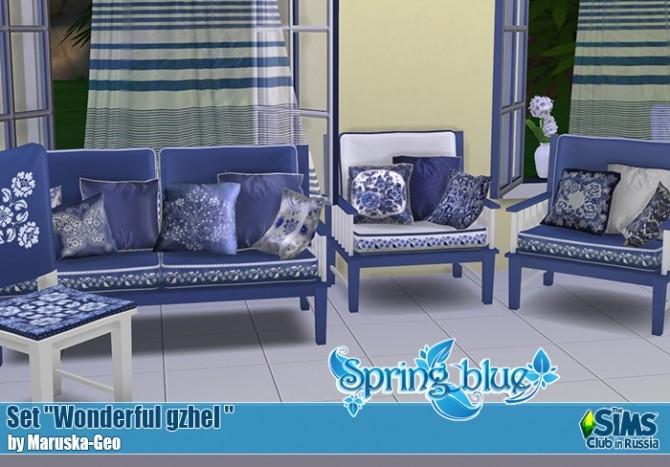 Wonderful gzhel set at Maruska Geo image 226 670x467 Sims 4 Updates