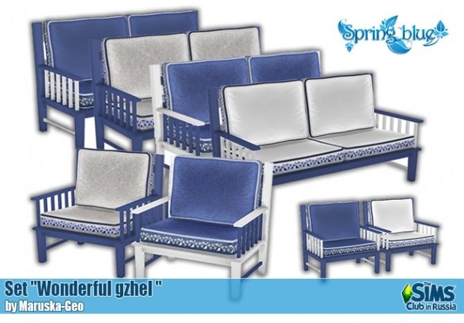 Wonderful gzhel set at Maruska Geo image 227 670x467 Sims 4 Updates