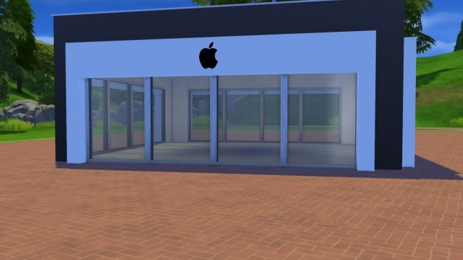 Apple store facade at meinkatz creations sims 4 updates for Apple boutique mural