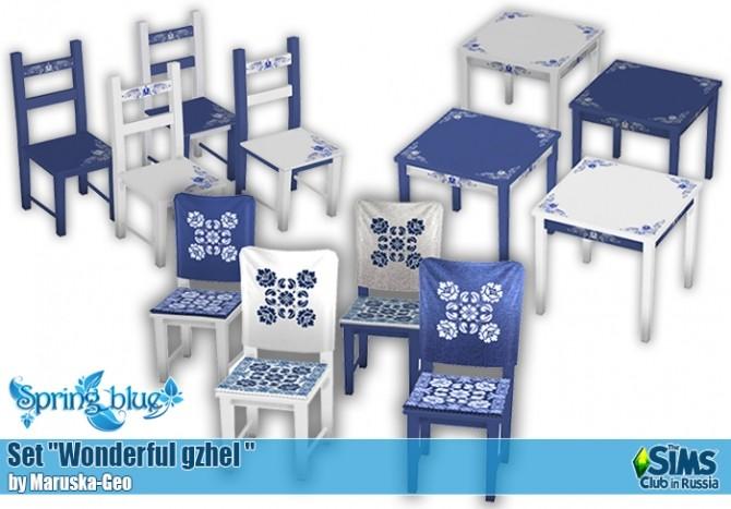 Wonderful gzhel set at Maruska Geo image 230 670x467 Sims 4 Updates