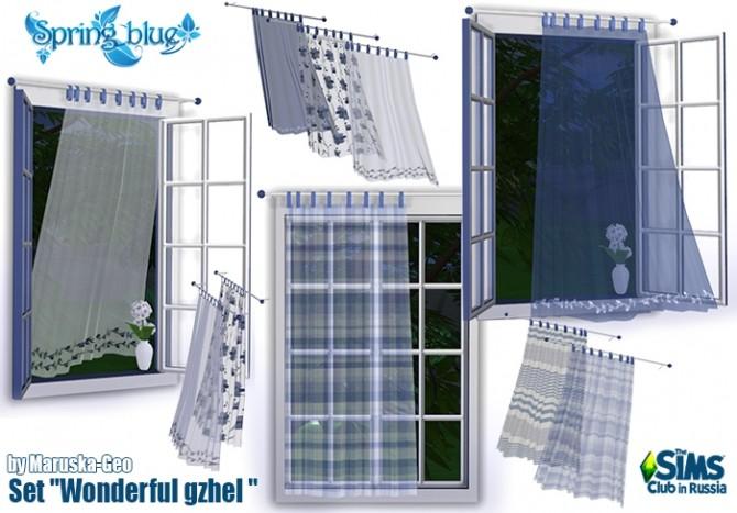 Wonderful gzhel set at Maruska Geo image 231 670x467 Sims 4 Updates
