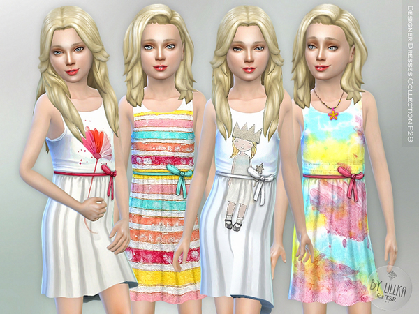 Sims 4 Designer Dresses Collection P28 by lillka at TSR